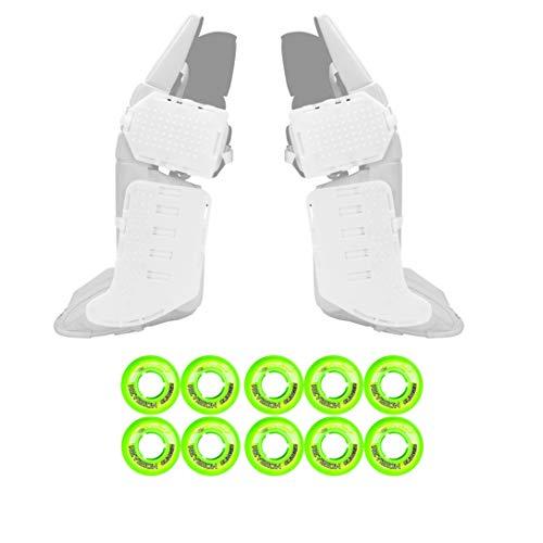 Rollerfly White Slide Plates + Revision Clinger Goalie - Indoor 47mm GRN ()