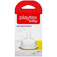 Playtex NaturaLatchNipple, Medium Flow, 2-Count