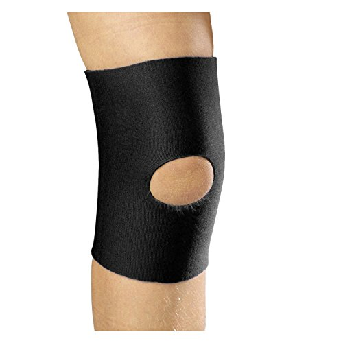 OTC KidsLine Knee Sleeve, Open Patella, Neoprene, Black, Large