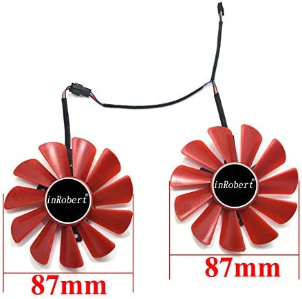 inRobert FDC10U12S9-C Video Card Fan Replacement Red Fan for XFX RX 570 RS Graphic Card RX570 Cooler