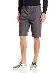 Volcom Men\'s Frickin Chino Short, Charcoal Heather, 36