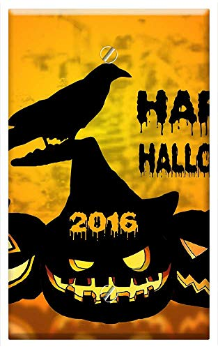 Single-Gang Blank Wall Plate Cover - Halloween Pumpkin
