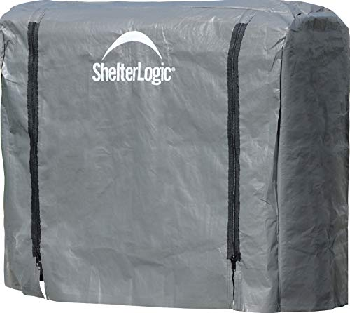 - ShelterLogic Firewood Rack-in-a-Box Universal Full Length Cover for Firewood Storage Racks, Fits Most 4-Feet Firewood Racks
