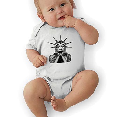 Baby Climbing Clothes Statue of Liberty Onesies Bodysuit Romper Short Sleeved 0-24 Months White ()