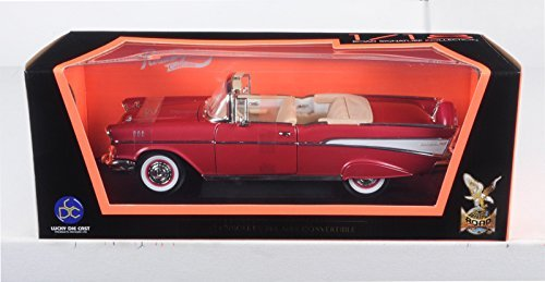 1957 Chevrolet Bel Air Convertible Red 1/18 by Road Signature 92108