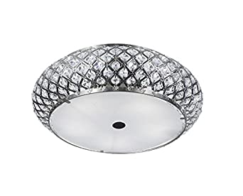 Home Decorators Collection 5 Light Brushed Stainless Steel Flushmount Clothing