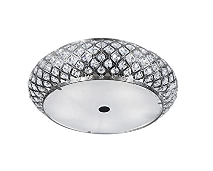Home Decorators Collection 5 Light Brushed Stainless Steel Flushmount