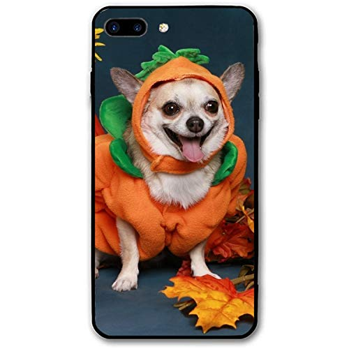iPhone 8 Plus Case,Personalized Dog Halloween Costume Floral Print PC Cellphone Case for [5.5 inch]]()