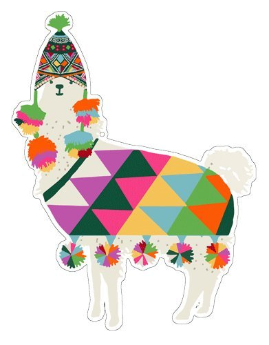 Christmas Tags Christmas Gift Tags Holiday Gift Tags Die Cut 8 Llama Ornaments w/Strings 4