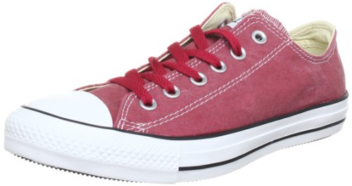 Converse Chuck Taylor All Star Bas Wash Ox, Baskets mode mixte adulte Jester Red