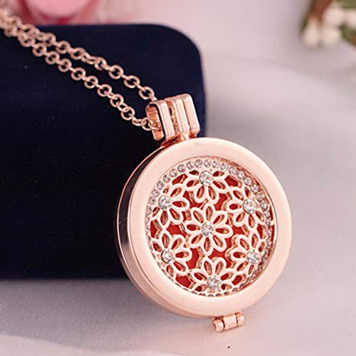 - Mikash New Locket Necklace Fragrance Essential Oil Aromatherapy Diffuser Pendant Gift   Model NCKLCS - 39725  