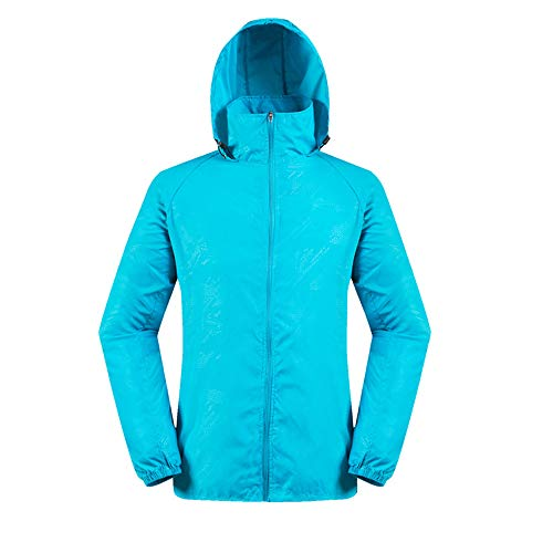 vermers Men and Women Lightweight Jackets Outerwear Casual Waterproof Windbreaker Jacket Running Hooded Coat(3XL, Blue)]()