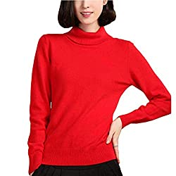 Sexy Panyan Autumn Winter Cashmere Sweater Pullover High Collar Turtleneck Sweater Women Solid Lady Basic Sweater Red M