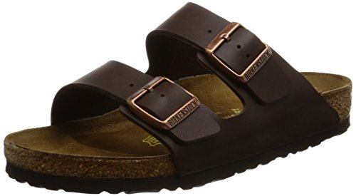 Birkenstock Unisex Arizona Brown Birko Flor Sandals - 10 D(M) US Men by Birkenstock