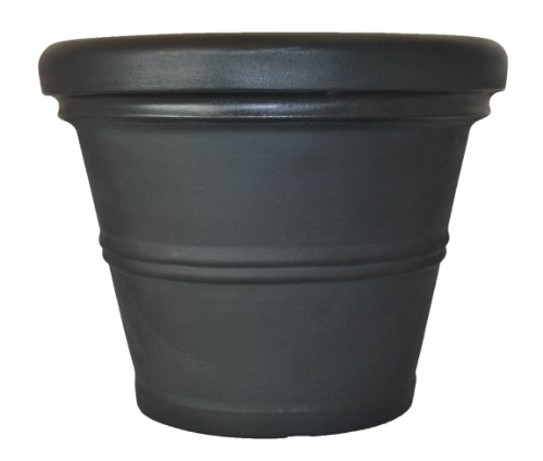 Tusco Products RR30BK Rolled Rim Garden Pot, 30-Inch, Black by Tusco Products