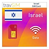 travSIM Three UK Prepaid Israel SIM Card 12GB Data Valid for 60 Days - Free Roaming in 71+ Destination Countries Including Europe (Germany Spain UK France Portugal Ireland Italy Austria Belgium)