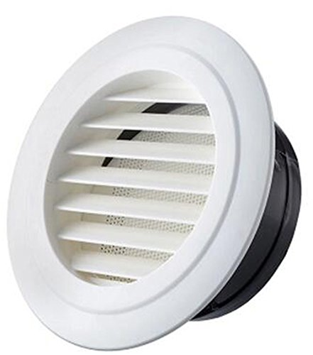 Air Vent Outlet Grille Wall Round Ventilation Cover Corner Air Diverter Decorative Grille Vent Return Register Easy Air Flow Fall Theme Cover For Walls and Ceilings , 75mm Mount Installation (Inlet Grille)