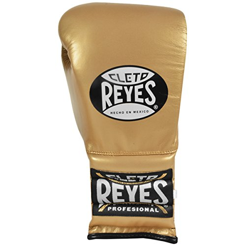Cleto Reyes Traditional Lace Up Training Boxing Gloves - 16 oz. - Solid Gold by Cleto Reyes (Image #1)