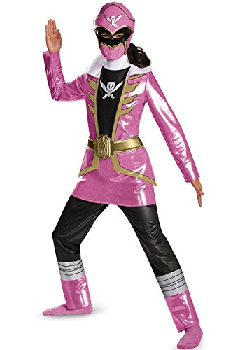 Pink Ranger Super Megaforce Girls Costumes (Disguise Saban Super MegaForce Power Rangers Pink Ranger Deluxe Girls Costume, Small/4-6x)