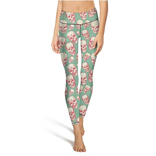 Eoyles gy Young Women High Waist Sweat-Wicking Happy Halloween Skulls Workout Yoga Pants Leggings]()