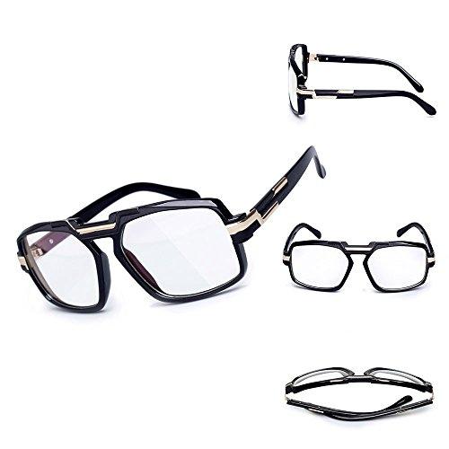 diseño el Gafas de la los sol los hombres de vidrios para mujeres UV400 Proteja retro la marca cuadrada unisex las lente de de Transparente del de fábrica para 44Uwqr