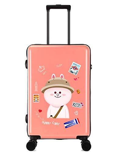24インチスーツケース小さな新鮮な大学生のトロリーユニバーサルホイールスーツケース (Color : Orange) B07MK1TZN9