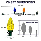 C9 Outdoor Christmas Lights 2 Pack 31ft 50 LED