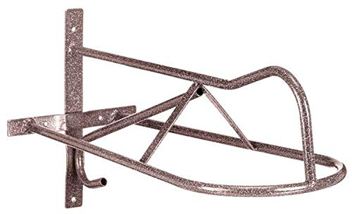 TOUGH-1 Western Wall Mount Saddle Rack in Hammered Finish