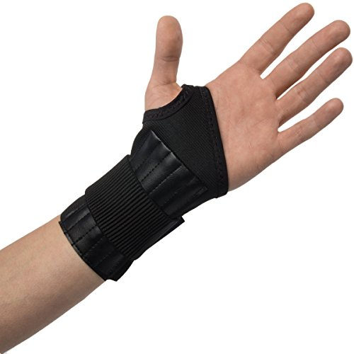 Integral Strain Relief - Decade 34433 Single Tension Spiral Stay Wrist Support Left Hand, Black, Large