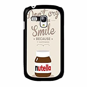 Nutella Samsung Galaxy S3 Mini Case,Stylish Pink Nutella Phone Case Protective Shell Cover for Samsung Galaxy S3 Mini,Elegant Nutella Logo Phone Case