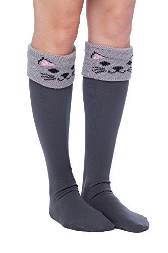 Women's Long Boot Cuff Socks -