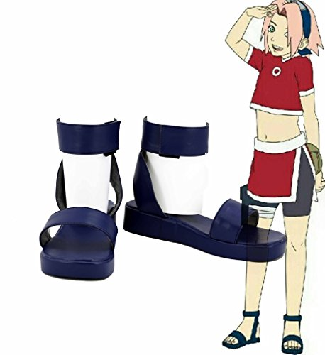 Naruto The Movie 3 Guardians Of The Crescent Moon Kingdom Haruno Sakura Shoes Sandals Cosplay Boots Custom Made Blue