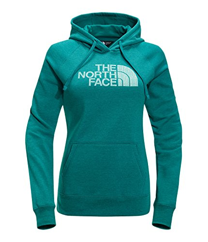 The North Face Women's Patterned Half Dome Pullover Hoodie Harbor Blue Heather ()