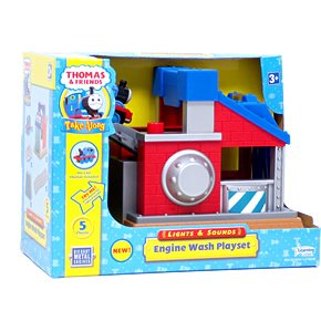 Thomas Take Along Lights & Sounds Sodor Engine Wash Playset with Thomas Die Cast (Sodor Engine Wash)