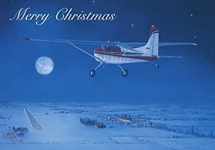 airplane christmas card - Aviation Christmas Cards