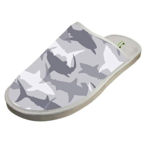 Camo Toe Shark Shoes Outdoors YESEG Foam Domestic Memory Closed White Indoor Slippers House 5wq11UXng