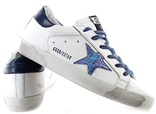 Golden Goose Damen Schuhe Sneakers Superstar G31ws590c60 Bianco Iridescente Italia