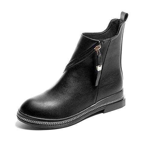 Eu nero Casual Short Boots Zipper Eu Round Donne 35 Low Head Scarpe 's Deed 38 Bottom fAZOqwRwv