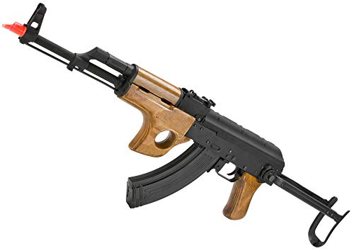 Evike CYMA Full Metal AK47-SU Airsoft AEG Rifle with Folding Stock - Real Wood (Package: Add 9.6v NiMH Battery + Charger)