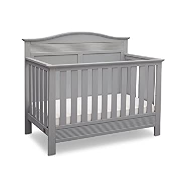 Delta Children Barrett Convertible Baby Crib to Full Size Bed, Gray (704320-026)