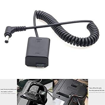 Acoplador Simulado de Batería NP-FW50 Con DC Male NP-FW50 Coupler Para Sony