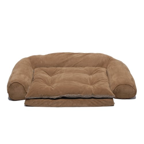 (CPC Ortho Sleeper Ex Large Comfort Couch with Removable Cushion, Chocolate)