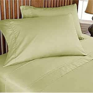 500 TC Ultra Soft Silky 100% Egyptian cotton Luxurious Duvet set Twin Sage solid