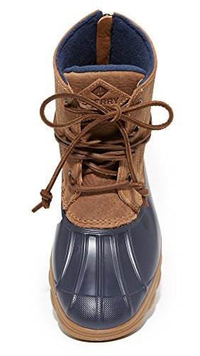 Tan Sider Tide Saltwater Boot Top Sperry Wedge Women's Rain Navy zxpqwg