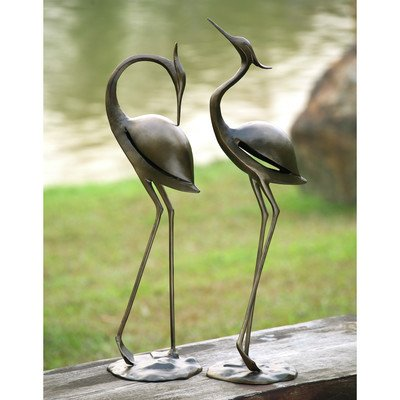 SPI Home 33350 Stylized Garden Heron Pair Sculpture