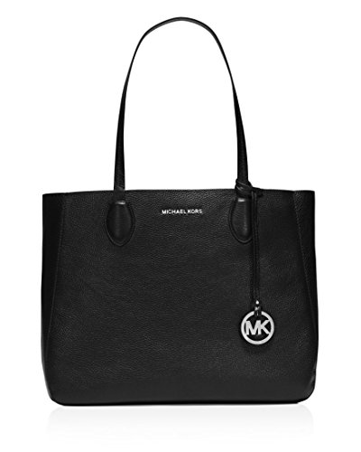 Michael Kors Women's Mae Reversible Tote Bag, Black/Silver, - Michael Kors Cleaner