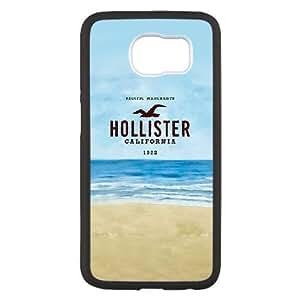 Samsung Galaxy S6 funda Negro [PC dura de la funda + HD Pattern] Serie Hollister® [Numeración: FHJSFOHSK3873]