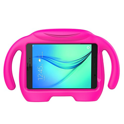 LEDNICEKER Kids Case for Samsung Galaxy Tab A 8.0 (2015) - Light Weight Shock Proof Handle Stand Kids Friendly Case for Samsung Tab A 8-inch Tablet SM-T350 2015 Releas (NOT Fit 2017 Tab A 8.0) - Rose