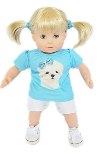 LITTLE MALTESE PUPPY OUTFIT FOR AMERICAN GIRL DOLLS BITTY TWINS