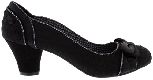Ruby Noir Court Black Shoes Heels Womens Shoo Hayley rw0Zqrv